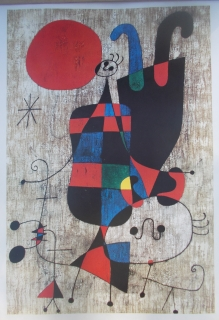 Joan Miró: People and Dog in the Sun